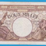 (2) BANCNOTA ROMANIA - 2.000 LEI 1941 (18 NOIEMBRIE 1941), FILIGRAN TRAIAN - Bancnota romaneasca