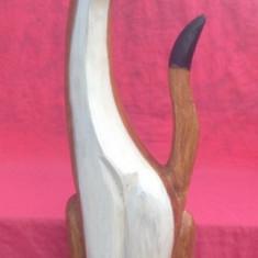 Pisica sculptata in lemn !!! - Sculptura, Animale, Europa