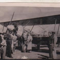 bnk foto - Fotografie interbelica tip carte postala - aviatie