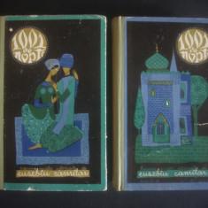 1001 DE NOPTI * BASME ARABE ISTORISITE DE EUSEBIU CAMILAR 2 volume - Carte Basme