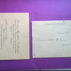 Romania - Familia Regala - Casa M.S. Regelui Invitatie - Carte Postala Muntenia 1904-1918, Circulata, Fotografie