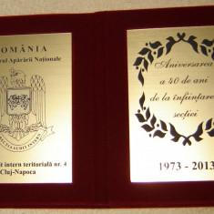 Placheta aniv. 40 de ani de la infiintarea Sectia audit intern teritoriala Cluj - Jubiliare