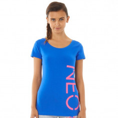 Tricou dama Adidas Neo Label ORIGINAL masura XS bumbac, Culoare: Verde, Imprimeu grafic, Maneca scurta, Casual