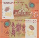!!!  NICARAGUA  -  20  CORDOBAS  2015  -  P 211  - UNC  // POLIMER