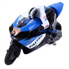 Motocicleta iUni MotoToy 222, Giroscop, Scara 1:10, Albastru - Motocicleta Suzuki
