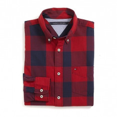 Camasa Tommy H. Custom Fit Plaid RED masura S si M