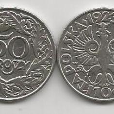 POLONIA  50  GROSZY  1923  [1]  XF ++   ,   livrare in cartonas, Europa, Nichel