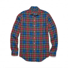 Camasa Ralph Lauren ESTATE PLAID LINEN SPORT SHIRT M L - Camasa barbati Ralph Lauren, Culoare: Din imagine, Maneca lunga