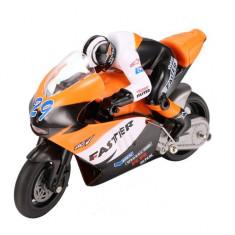 Motocicleta iUni MotoToy 222, Giroscop, Scara 1:10, Portocaliu - Motocicleta Suzuki