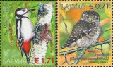 LETONIA 2016, Fauna - Pasari,  serie neuzată, MNH, Nestampilat