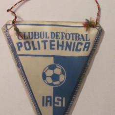 PVM - Fanion mai rar Clubul de Fotbal POLITEHNICA IASI - Fanion fotbal