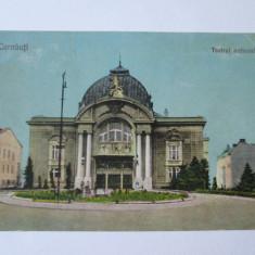 CARTE POSTALA NECIRCULATA CERNAUTI/BUCOVINA, TEATRUL NATIONAL ANII 20 - Carte Postala Bucovina 1904-1918, Printata