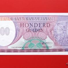 SURINAME - 100 Gulden 1985 - UNC - bancnota america