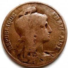 RARITATI ! FRANTA, 10 CENTIMES 1910, DIAMETRU 30mm., Europa, Cupru (arama)