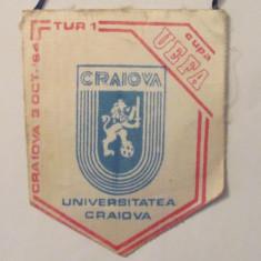 PVM - Fanion fotbal UNIVERSITATEA CRAIOVA - Betis Sevilla Cupa UEFA 03.10.1984