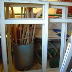 GEAM (fereastra) termopan GEALAN L=153xH=120 cm, geamul cu tenta maronie fabrica