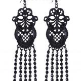 Cercei gotici Dantelă neagră - Pandantiv fashion