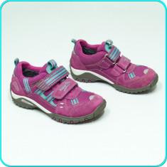 Pantofi sport / adidasi, PIELE, aerisiti, impermebili, SUPERFIT _ fetite | nr 28 - Adidasi copii, Culoare: Fuchsia, Fete, Piele intoarsa