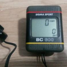 CICLOMETRU - Computer bicicletă, wireless - SIGMA SPORT BC-600 - Accesoriu Bicicleta