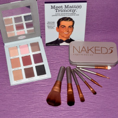 Trusa machiaj 7 pensule make up Naked Urban Decay  + Farduri theBalm Cosmetics, Urban Decay