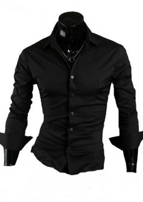 Camasa neagra - camasa barbati - camasa slim fit - camasa fashion foto