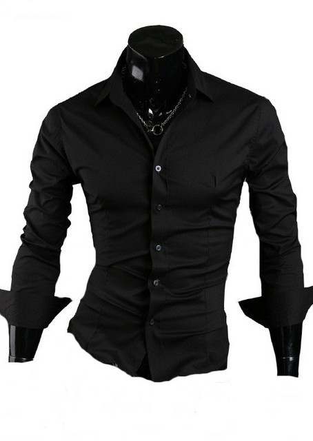Camasa neagra - camasa barbati - camasa slim fit - camasa fashion