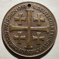 1.577 JETON GERMANIA DEUTSCHER EVANGELISCHER KIRCHENTAG MUNCHEN 1959 28mm - Jetoane numismatica