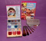 Trusa machiaj Naked Urban Decay  7 pensule + farduri paleta theBalm cosmetics