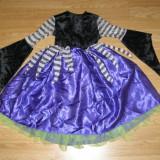 Costum carnaval serbare vrajitoare pentru copii de 2-3-4 ani - Costum Halloween, Marime: Masura unica, Culoare: Din imagine