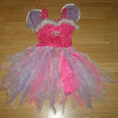 Costum carnaval serbare zana fluture pentru copii de 6-7 ani - Costum Halloween, Marime: Masura unica, Culoare: Din imagine