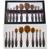 Set 10 Pensule Machiaj - Black Out Oval Brushes Beauty Make-up