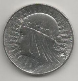 POLONIA  5  ZLOTI ZLOTYCH  1933 , Ag  [4]  XF+ ,  REGINA  JADWIGA   in cartonas, Europa, Argint