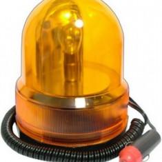 Girofar auto galben portocaliu, cu suport magnetic