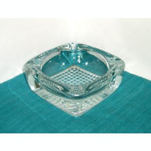 Scrumieră masiva cristal suflata manual - design Rudolf Jurnikl, Sklo Union 1964