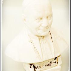 BUST CATOLIC FĂCUT DIN PRAF DE MARMURĂ - PAPA IOAN / GIOVANII AL XXIII, VECHI!