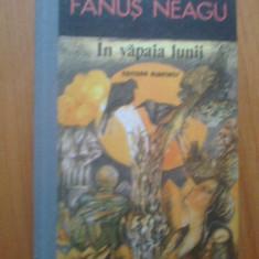 H4 In Vapaia Lunii - Fanus Neagu - Roman, Anul publicarii: 1988