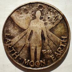 1.484 MEDALIE PAMANT LUNA ASELENIZARE 1969 APOLLO 11 35mm, America de Nord