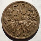1.301 CEHOSLOVACIA 50 HALERU 1922, Europa, Cupru-Nichel