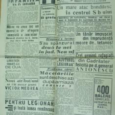 Capitala 14 ianuarie 1941 Comunicat legionar H. Sima catre masonerie si masoni - Ziar