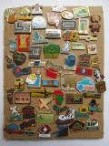 Lot de 60 de insigne pin, colectie mare pinuri insigna