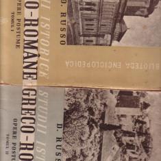 D.Russo - Studii istorice greco - romane - Carte Editie princeps