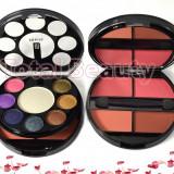 Trusa Machiaj 12 culori metalice oglinda, pudra/blush, iluminator #04 Shiny