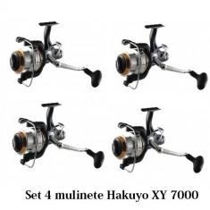 Set 4 Mulinete Hakuyo XY 7000 Cu Sistem Bait Runner Baitrunner Frana de atac