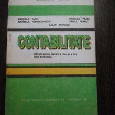 CONTABILITATE * Manual cl. IX - X -a - Gratiela Babe, N. Patea - 1993, 154 p. - Manual scolar didactica si pedagogica, Clasa 10, Didactica si Pedagogica, Alte materii