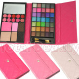 Trusa Machiaj 51 culori cu ruj, concealer, blush si pudra Shiny Book