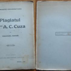 Emanuel Socor, O rusine universitara ; Plagiatul D - lui A. C. Cuza, 1911 - Carte Editie princeps