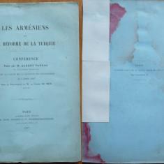 Albert Vandal, Armenii si reformele din Turcia, Paris, 1897 - Carte Editie princeps