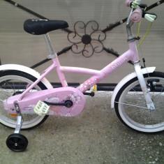 B'TWIN, Liloo Princess, bicicletă copii 16'' (6-8 ani), Numar viteze: 1