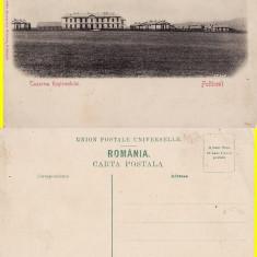 Falticeni(Bucovina,Suceava)-Cazarma regimentului-tema militara,razboi-rara