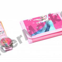 Set ceas de mana si portofel Elsa Frozen - Ceas copii Disney